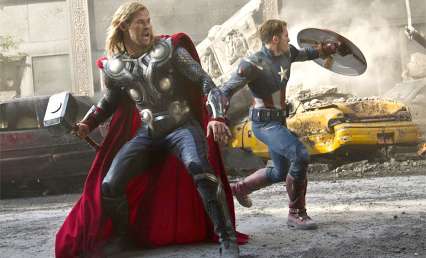 Thor and Captain America the Avengers