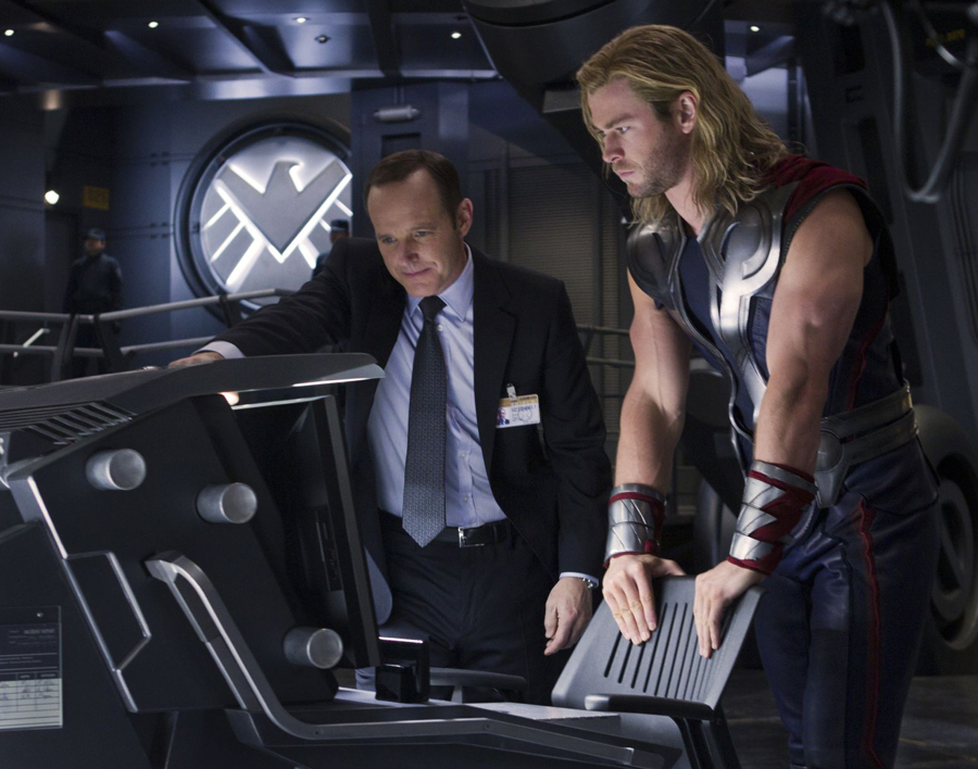 Thor and Coulson