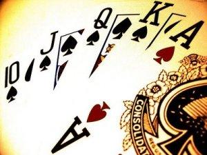 Poker night playing poker