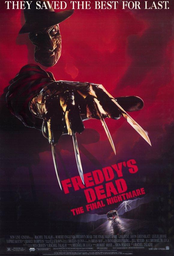 freddy krueger nightmare on elm street 6 freddy's dead the final nightmare poster