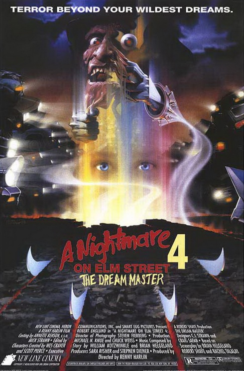 A Nightmare On Elm Street 4 The Dream Master Poster Wallpaper