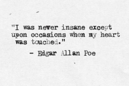 edgar allan poe quote insanity