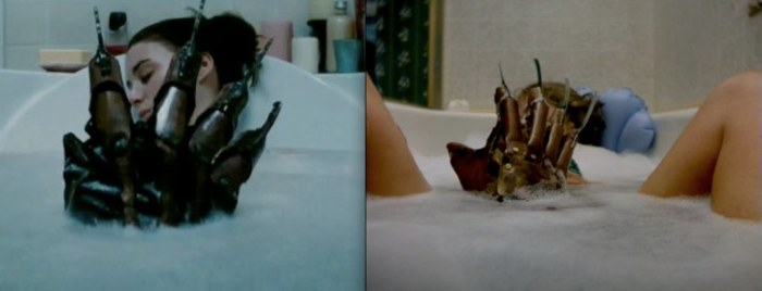 nightmare on elm street 1984 vs 2010 bath