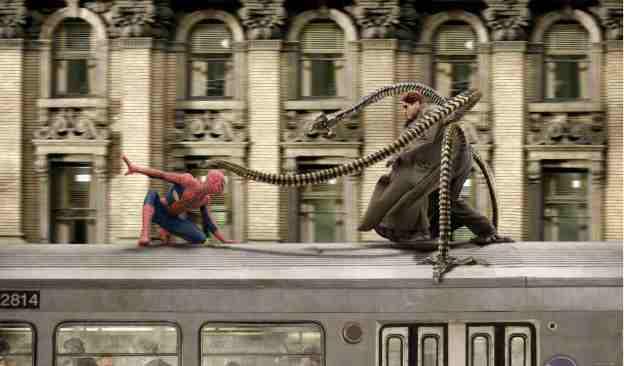 Epic train fight
