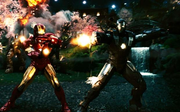 Iron Man 2 fight scene