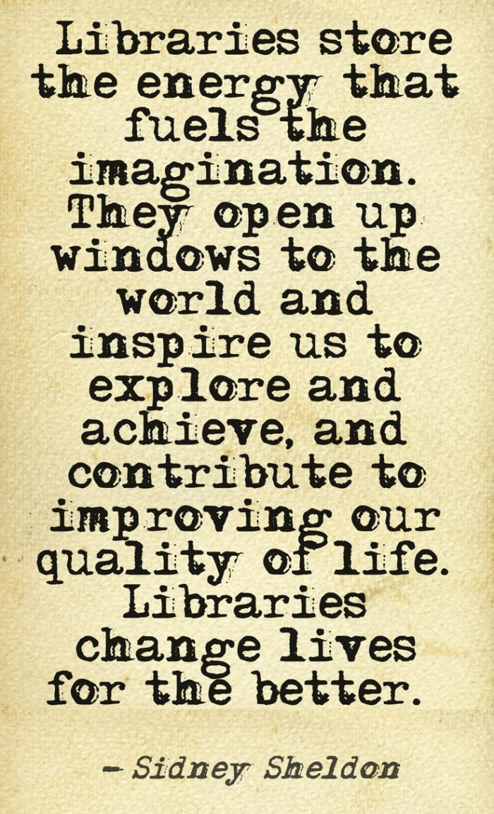 sidney sheldon libraries change lives quote