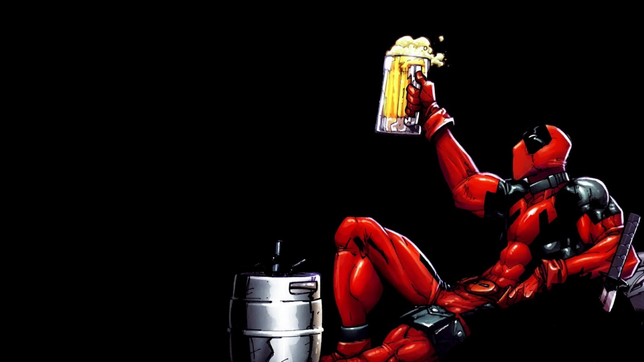 deadpool drinking