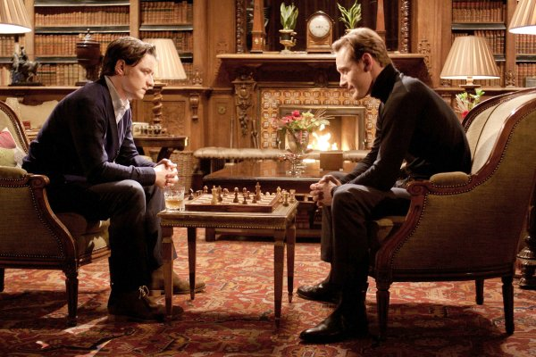 first class charles and erik playing chess
