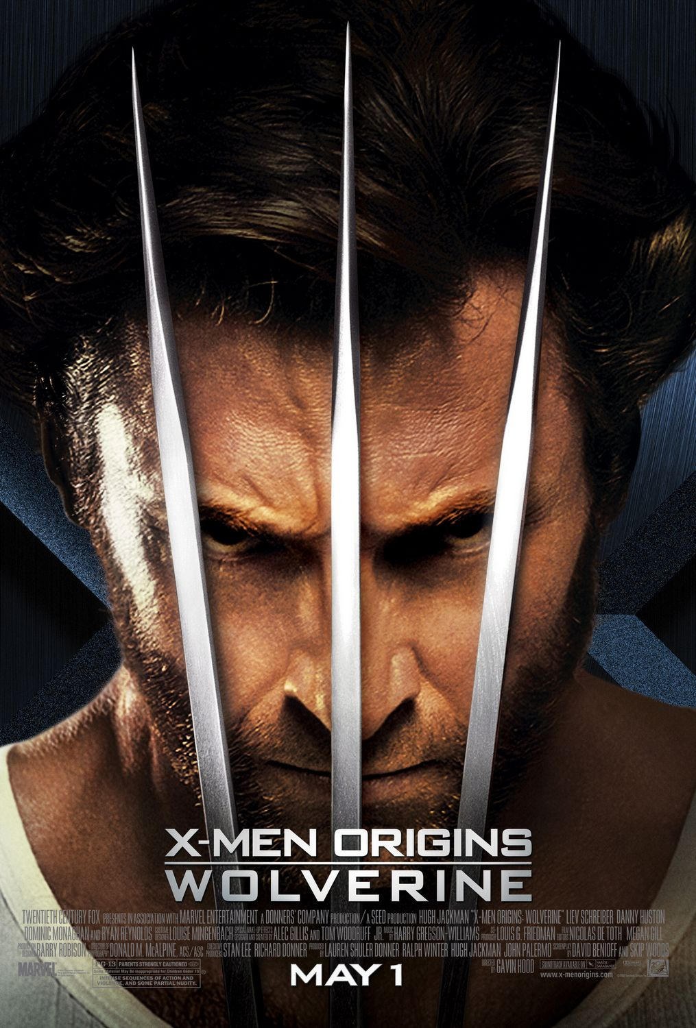 x men origins wolverine poster