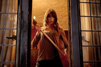 Sharni Vinson played the strong heroine in Adam Wingard's home invasion horror You're Next