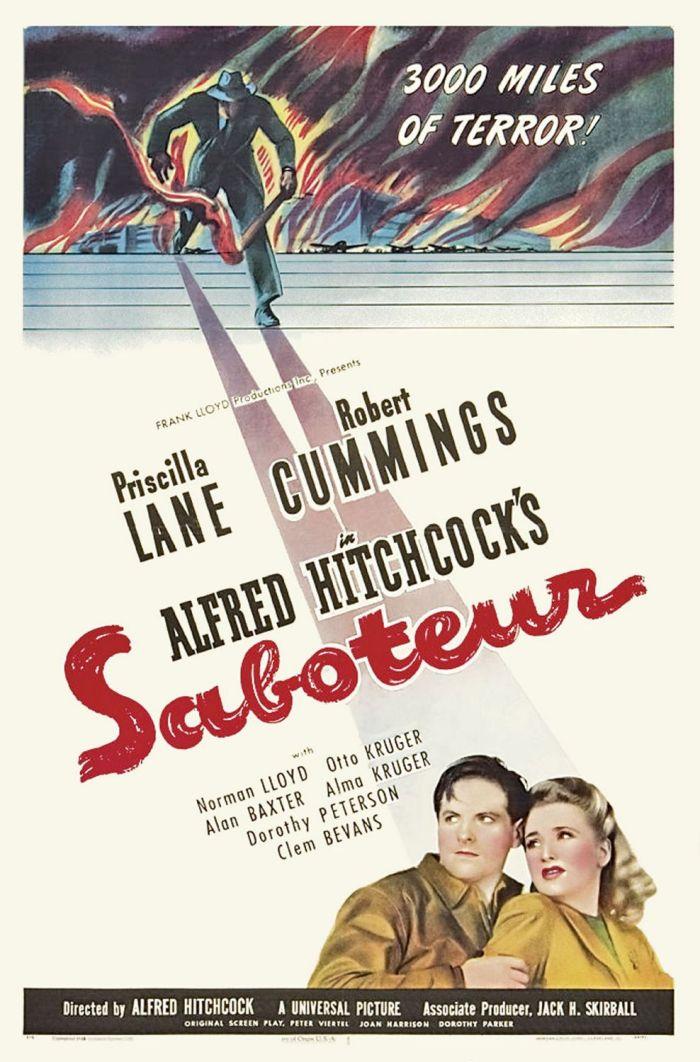 saboteur movie poster