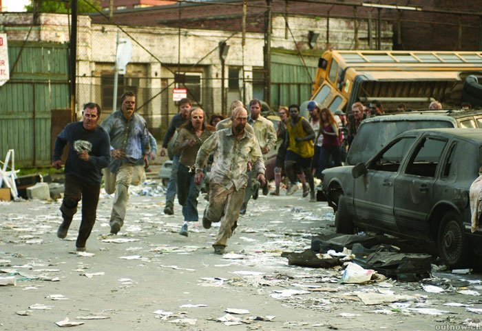 dawn of the dead running zombies
